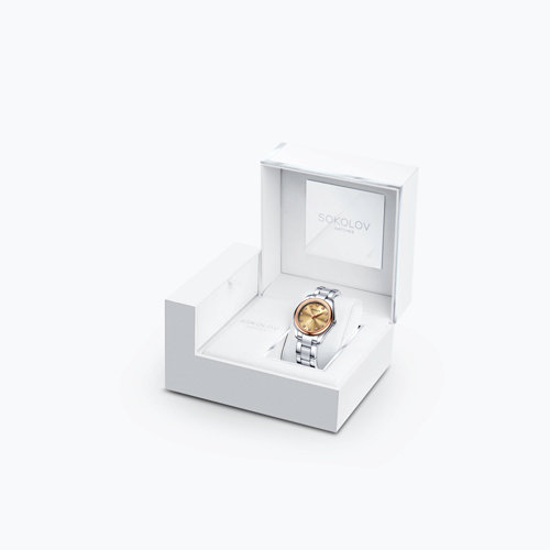 Женские часы из золота и стали (140.01.71.000.03.01.2) - фото №4