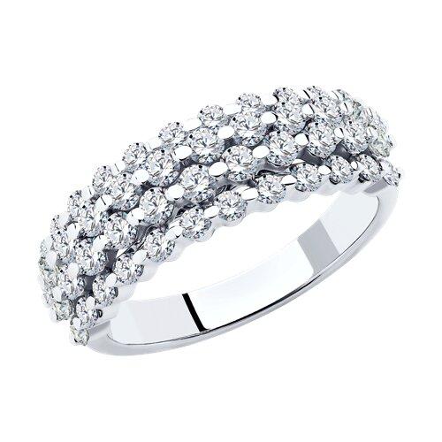 Кольцо из белого золота с бриллиантами (1011782) - фото