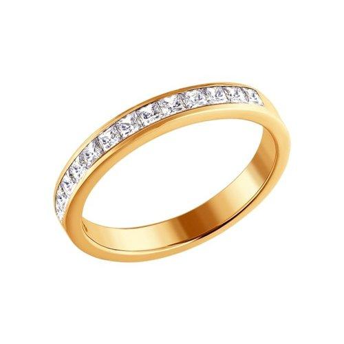 Обручальное кольцо из золота со Swarovski Zirconia