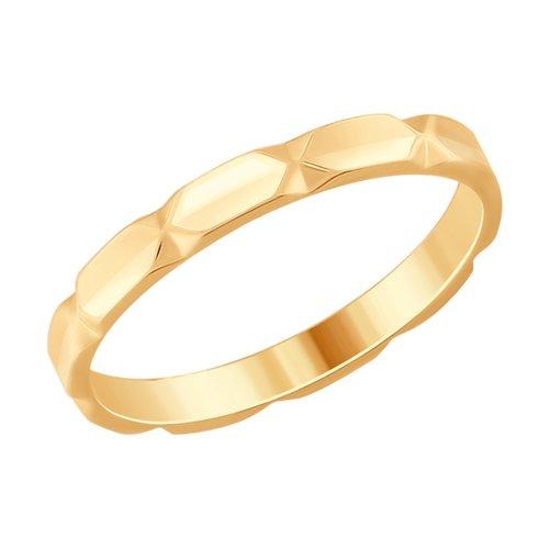 Кольцо из золочёного серебра (93010728) - фото