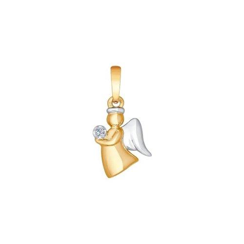 Подвеска «Ангел» из золота с бриллиантом