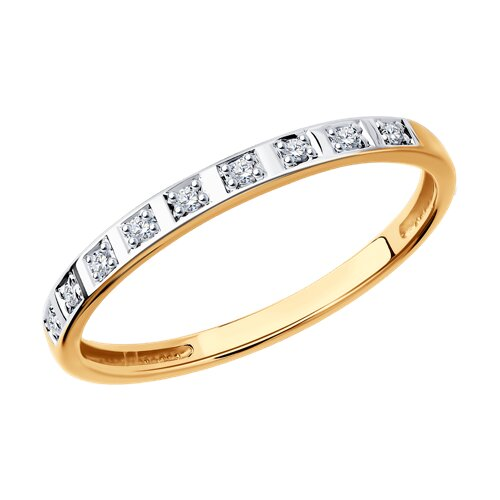 Кольцо из золота с бриллиантами 1011552 sokolov фото