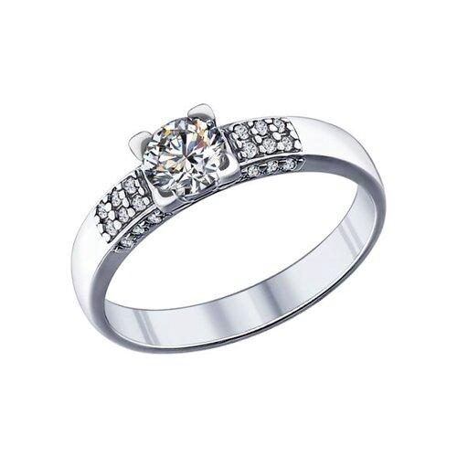 Кольцо из серебра с фианитами (89010019) - фото