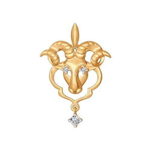 Золотой кулон «Знак зодиака Овен» SOKOLOV