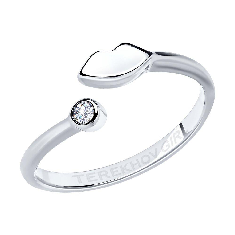 Кольцо SOKOLOV из серебра с фианитом SOKOLOV x TerekhovGirl недорого
