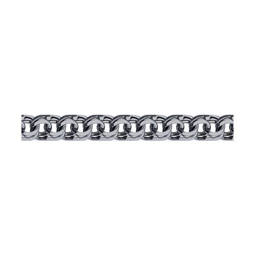 Браслет из чернёного серебра с алмазной гранью