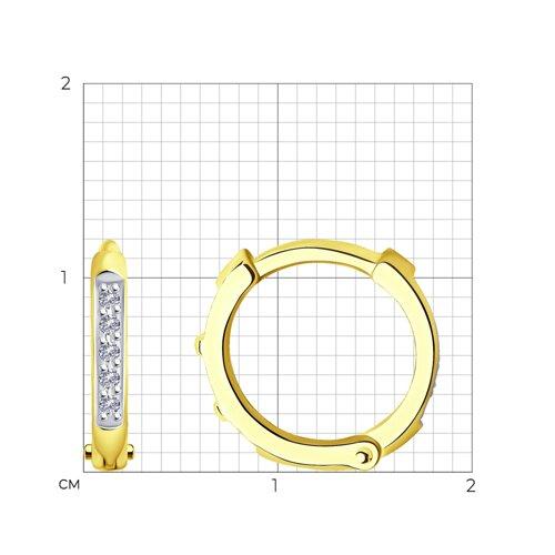 Серьги из желтого золота с бриллиантами 1021543-2 SOKOLOV фото 2