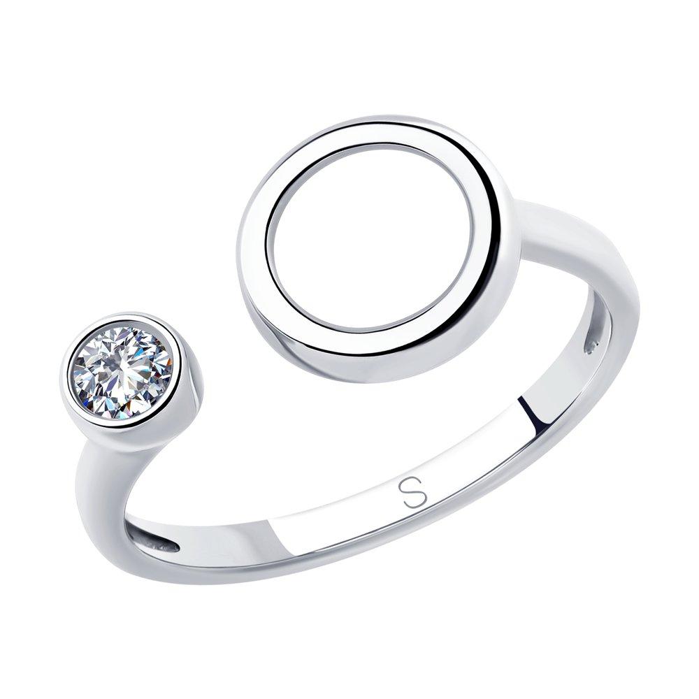 Кольцо SOKOLOV из серебра с фианитом фото