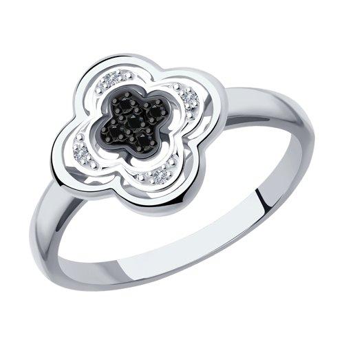 Кольцо из белого золота (7010060-3) - фото