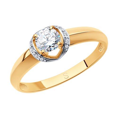 Кольцо из золота со Swarovski Zirconia (81010031) - фото