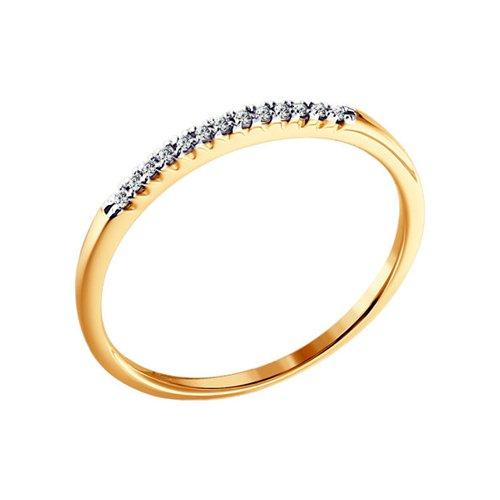 Золотое кольцо с бриллиантовой дорожкой SOKOLOV золотое кольцо ювелирное изделие 01k625248