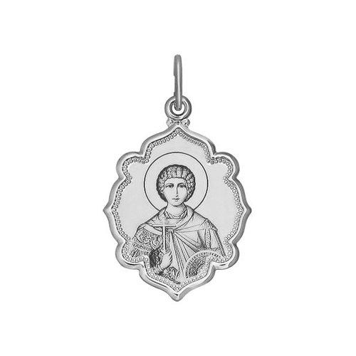 Иконка из серебра с лазерной обработкой (94100218) - фото