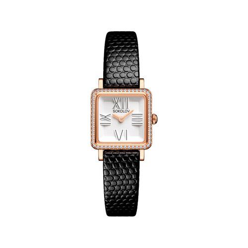 Женские золотые часы (232.01.00.001.01.01.2) - фото №2