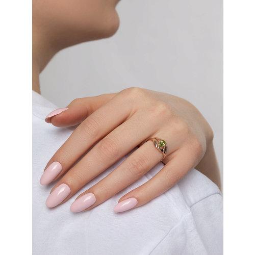 Кольцо из золота с хризолитом и фианитами (714715) - фото №4