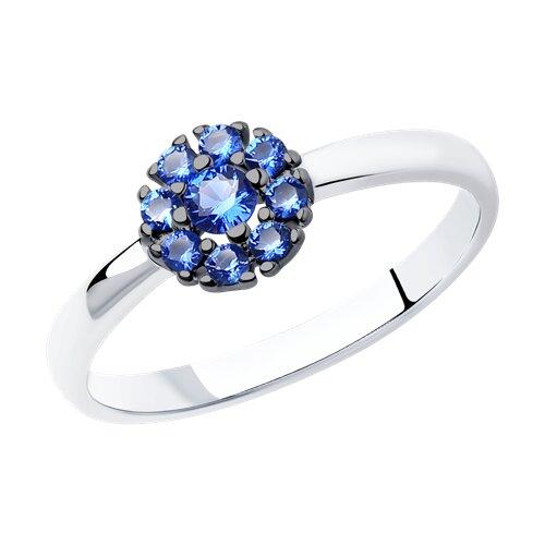 Кольцо из серебра с фианитами (94011711) - фото