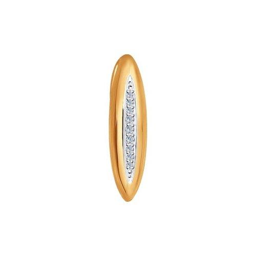 Подвеска SOKOLOV из золота с дорожкой бриллиантов недорого