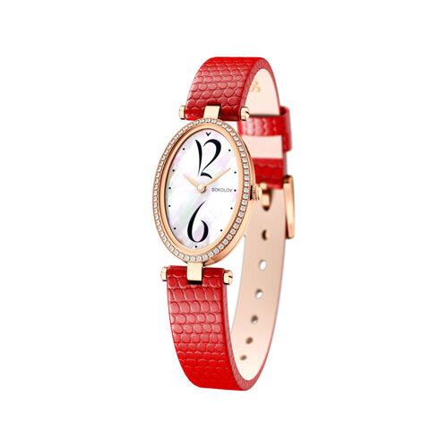 Женские золотые часы (236.01.00.100.05.03.2) - фото