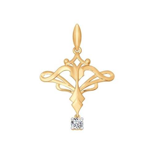 Золотой кулон «Знак зодиака Стрелец» SOKOLOV магия золота золотой кулон mg127351