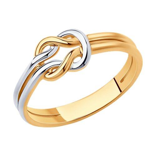 Кольцо из золочёного серебра (93010831) - фото