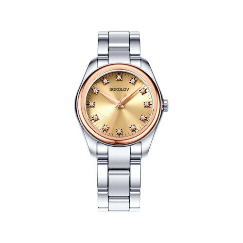 Женские часы из золота и стали (140.01.71.000.03.01.2) - фото №2