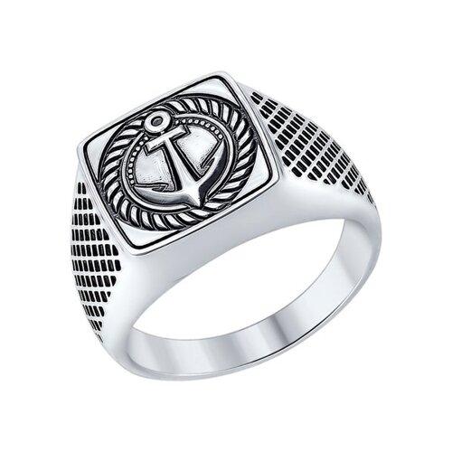 Кольцо «Якорь» из серебра