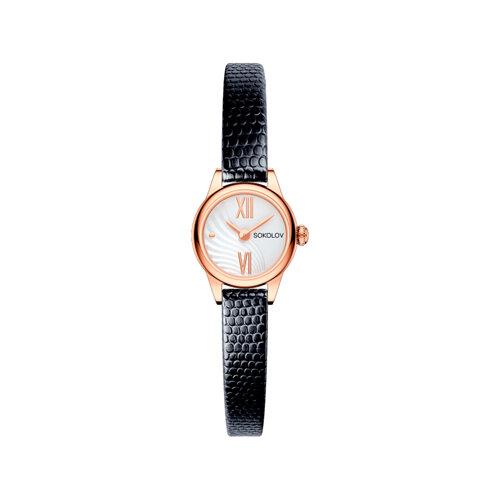 Женские золотые часы (211.01.00.000.04.01.3) - фото №2
