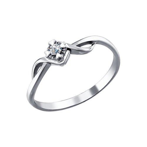 Кольцо золотое с бриллиантом SOKOLOV