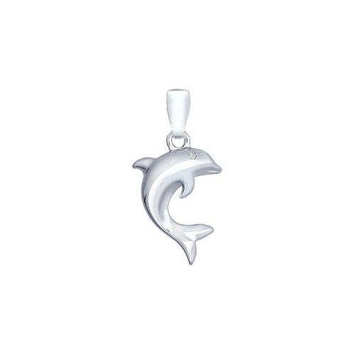 Подвеска «Дельфин» из серебра