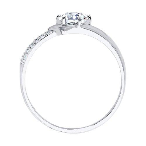 Кольцо из белого золота с фианитами 017402-3 SOKOLOV фото 2