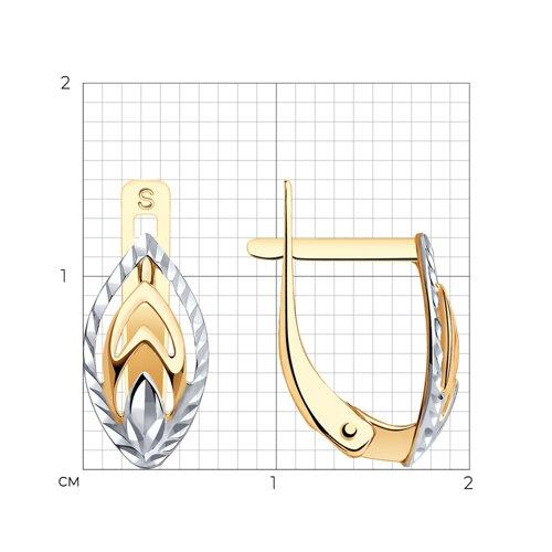 Серьги из золота с алмазной гранью 027191 SOKOLOV фото 2