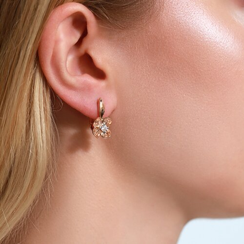 Серьги из золота с бриллиантами (1021358) - фото №3