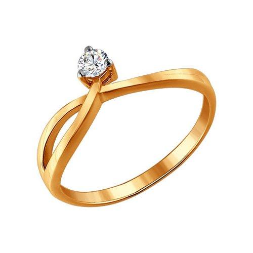 Золотое помолвочное кольцо с бриллиантом SOKOLOV золотое помолвочное кольцо с фианитом sokolov
