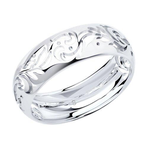Резное кольцо из серебра