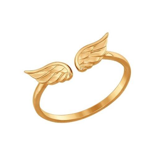 Тонкое золотое кольцо «Крылья» SOKOLOV золотое кольцо ювелирное изделие 01k513557
