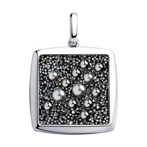 Подвеска из серебра с кристаллами Swarovski (94032482) - фото
