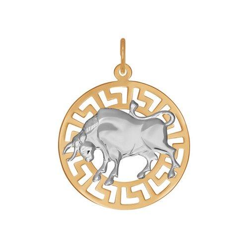 Золотая подвеска «Знак зодиака Телец» SOKOLOV