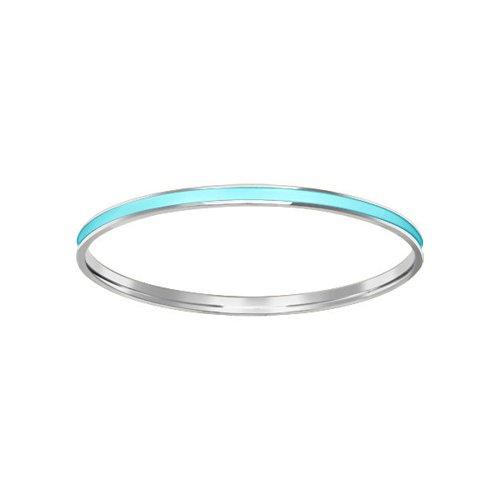 Серебряный жесткий браслет с лазурной эмалью SOKOLOV все цены