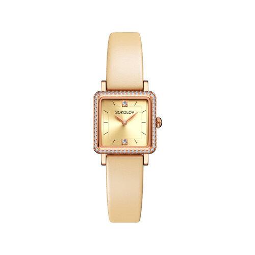 Женские золотые часы (232.01.00.100.06.09.2) - фото №2