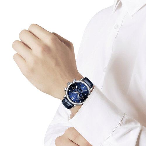 Мужские серебряные часы (125.30.00.000.05.03.3) - фото №3