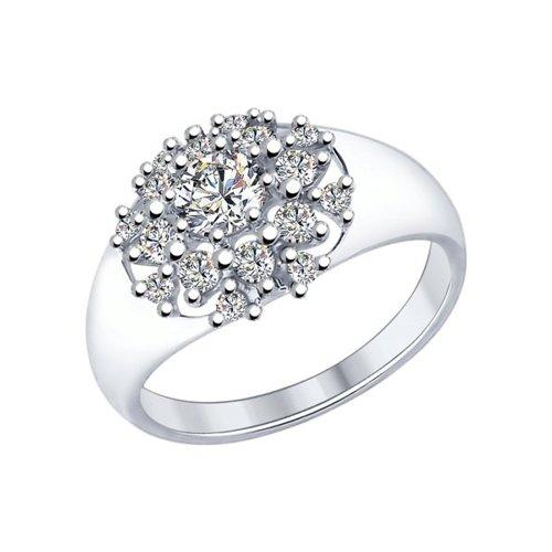 Кольцо из серебра со Swarovski Zirconia 89010052