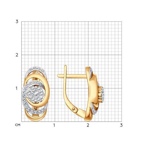 Серьги из золота с бриллиантами (1020560) - фото №2