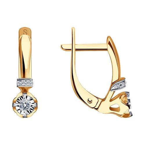 Серьги из золота с бриллиантами 1020719 SOKOLOV фото
