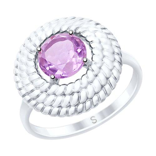 Кольцо из серебра с аметистом (92011526) - фото