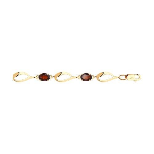 Браслет из золота с гранатами (750341) - фото
