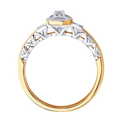 Кольцо из золота с бриллиантами (1011867) - фото №2