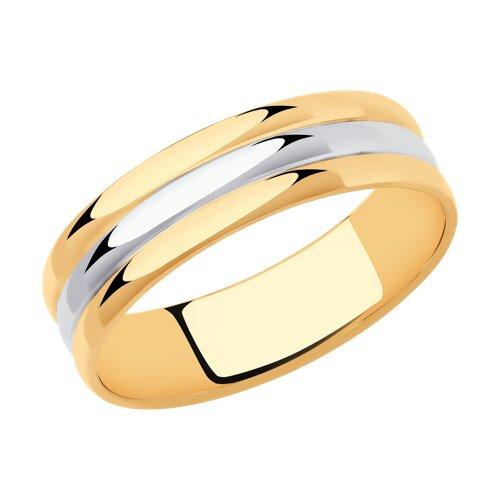 Кольцо из комбинированного золота (110233) - фото