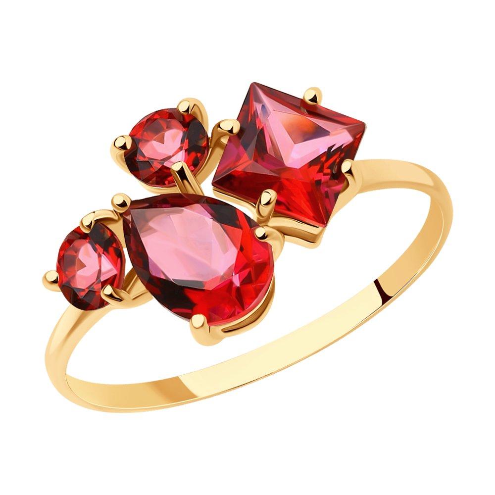 Кольцо SOKOLOV из золота с топазами Swarovski кольцо sokolov из золота с топазами swarovski