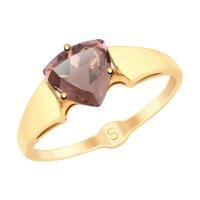 Кольцо из золота с ситаллом султанит