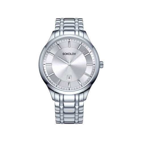 Мужские стальные часы (312.71.00.000.01.01.3) - фото №2