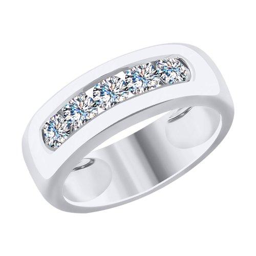 Кольцо из белого золота с бриллиантами (1011787) - фото